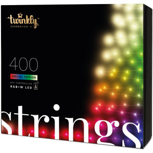 Twinkly Strings IP44 Okos karácsonyfa izzó, 400 LED Bluettoth Wifi,32m