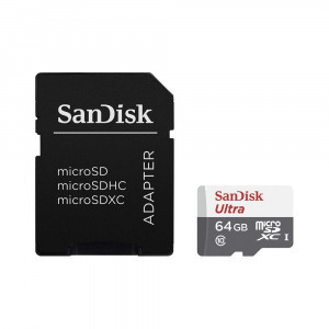 SanDisk Ultra Android 64GB MicroSDXC C10 UHS-I + SD adapter