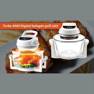 Turbo 4000 Digital halogén grill sütő