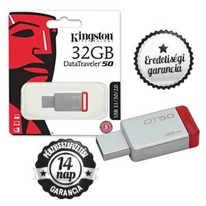 32GB KINGSTON DT50 3.1/3.0/2.0 Usb/Pendrive