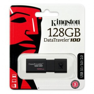 KINGSTON DT 100 G3 128GB USB 3.0 pendrive fekete