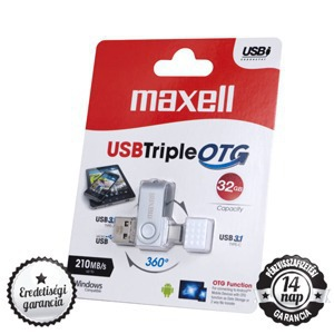 Maxell Bales Triple 32GB USB 3.0, OTG, Type-C 3.1 Pendrive